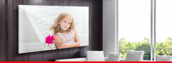salon avec tirage plexiglas grand format