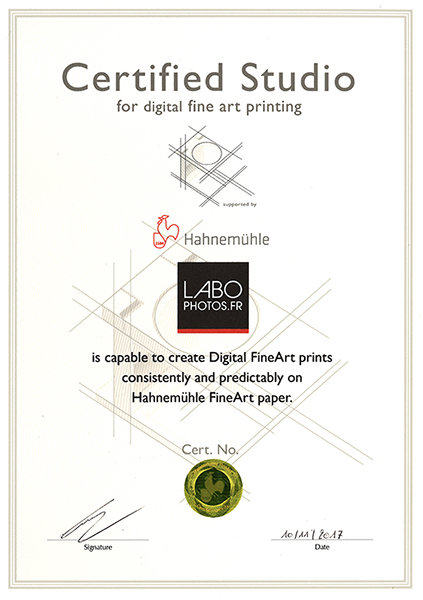 Certification Hahnemuhle